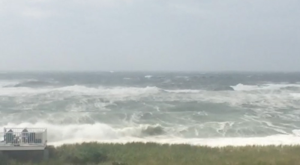 Even a Small Storm Engulfs the Beach at Quogue