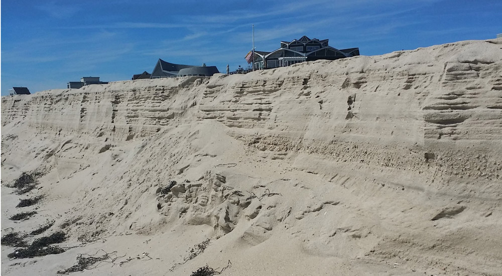 Quogue Beach Impacted by Storms Hundreds of Miles Offshore