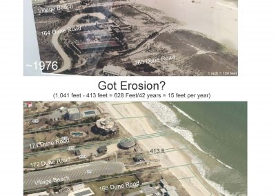 Quogue VIllage Beach 1970 to 2018 east view